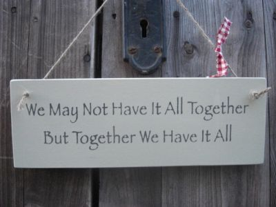 All Together Wooden Friends and Family signs - Large Image