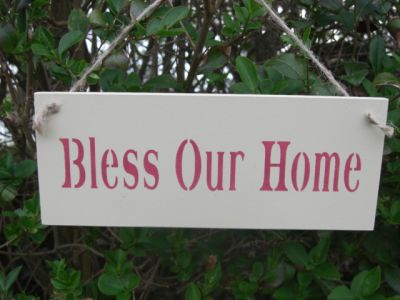 Bless our Home Wooden Signs for your Home - Large Image