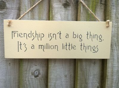 Friendship is a million things Wooden Friends and Family signs - Large Image