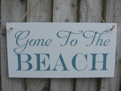 Gone to the Beach Wooden Beach and Seaside signs - Large Image