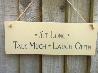 Sit Long Wooden Signs for your Home - Large Image