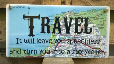 Travel Wooden Happy Camper - Large Image