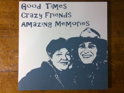 Triple Subject Wooden Captured Moments custom artwork - Large Image