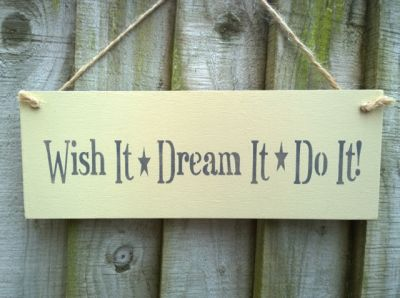 Wish It Wooden Inspirational signs - Large Image